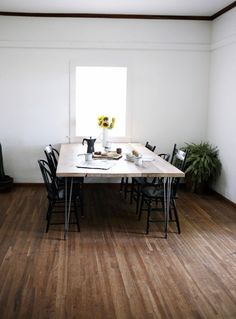 Trends Diy Decor Ideas : Table à manger en bois avec hairpin legs