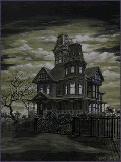 Halloween Lights | Haunted House Animation