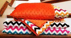 Chevron Nap Mat Set by PootieCakeCreations on Etsy, $75.00