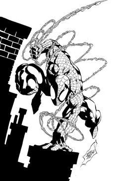 Spider-Man by Mike Deodato Jr. Ms Marvel, Captain Marvel, Marvel Comics, Comic Art Community, Ink Master, Mike Deodato, Dark Phoenix, Comic Games, Silver Surfer