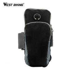 496f9ed9788818 WEST BIKING Runing Arm Bag Phone Holder Jogging GYM Adjustable Waterproof  ArmBand Cover Deporte Sport Riding