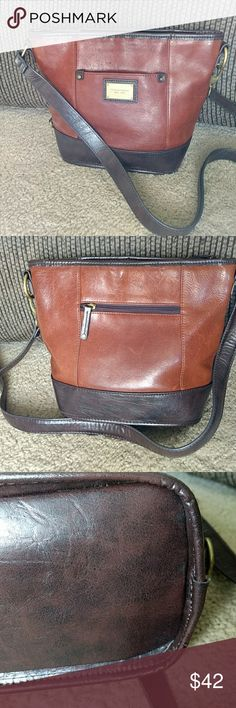*Sale* Tignanello two tone brown leather bag Gorgeous light brown and dark brown bag. Tignanello Bags