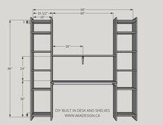 DIY built in desk and shelves   www.akadesign.ca