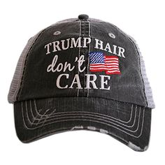 ae721aa1ce356 Katydid Trump Hair Don t Care Women s Trucker Hats Caps by Katydid Trump  Hair