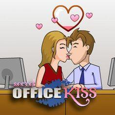 Je zit samen met je geliefde collega op het kantoor.br Kus haar op de mond, maar pas op dat de baas jullie 2 niet betrapt !