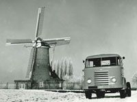 DAF Truck in typical dutch landscape