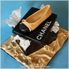 Chanel Sugar Ballet Shoe and Box Cake