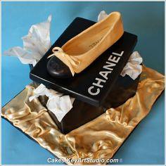 Chanel Sugar Ballet Shoe and Box Cake