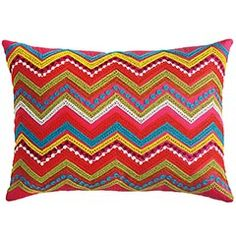 Cool chevron fiesta pillow!
