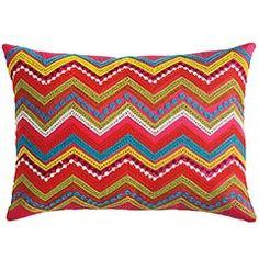 Chevron crochet pillow-- GORGEOUS!
