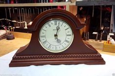 THANK YOU for stopping by our listings here on Etsy!  You are viewinga professionally serviced Westminster Chiming Mantel Clock model from Springfield Clock Co LTD This clock was a display model for our clock shop & has been professionally serviced by our own in-house master clockmaker and it is certified to as-new mechanical condition. It is in flawless working order. FEATURES: • Precision high-torque quartz movement is virtually maintenance free • Chime boasts traditional Westminster…