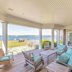 boris_baranovich_architects Porch with a view at a private residence on Shelter Island, New York. #shelterisland #ramsheadisland #porch #summer #hamptons #hamptonsstyle #hamptonsliving  #hamptonslife #hamptonsdesign #highend #luxury #customarchitecture #nyarchitect  #waterfront #islandliving #customarchitecture #newyorkcity #sagharbor #bba 📷 @ryanmooreart #hamptonsstyle #verndah