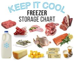 Wondering if that minced meat in the bottom of the freezer is still safe to eat? Use our handy freezer storage chart, for everything from poultry to cheese: Freezer Storage, Refrigerator Organization, Home Organization Hacks, Keep Cool, Good Housekeeping, Dollar Stores, Meal Prep, Make It Yourself, Meat