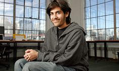 """Aaron Swartz campaigned for a free and open internet. But after he fell foul of US authorities, he took his own life. His former girlfriend tells Elizabeth Day of her anger at his treatment Aaron's mom tweeted today that if he was alive.. he would be fighting for net neutrality.. How can such a good kid have been  treated so badly by the """"law"""" when we have billionaires and doctors.. celebrities...  Politicians clergy... who are peadophiles and lie cheat steal and are free.."""