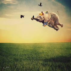 Dumbo flying with crows #newmedia #art #digitalart #NMA http://newmediaart.co/image/lbyo?utm_content=buffercfa6b&utm_medium=social&utm_source=pinterest.com&utm_campaign=buffer via New Media Art Co