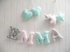 Briefe Spielzeug Baby und Kids Room decor, Name Wand-Dekor niedlichen Baby-Dusche Geschenk-Set, Baumschule Girlande Buchstaben für Kinderzimmer, Buchstaben hängen