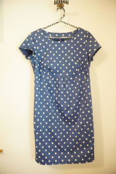 Seraphine Maternity Blue Polka Dot Cotton Dress Cap Sleeve Size 8  #Seraphine #EmpireWaist #Casual