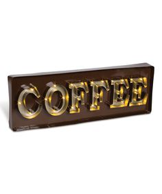 Look at this Silver Metal LED Light-Up Coffee Sign on #zulily today!