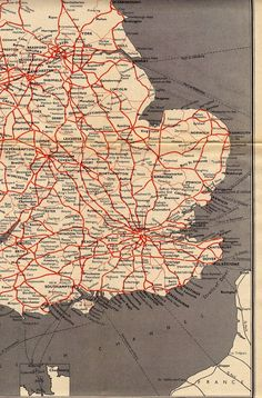 The 1956 British Railways Passenger Network Map British Rail, Extraordinary People, Old Maps, Led Zeppelin, Geography, Flags, Vintage World Maps, Royalty, England
