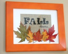I like the idea of decorating a frame for the season, taking a picture, and including leaves the girls have found. Jenna LOVES leaves and I could see this as something we do for each season. Yay for inspiration!