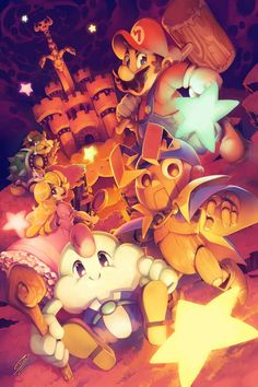 Super Mario RPG: Legend of the Seven Stars by =SaiyaGina on deviantART Super Mario Brothers, Super Mario Bros, Super Mario World, Mario Kart, Mario Y Luigi, Malon Zelda, Gi Joe, Mario Fan Art, Chibi