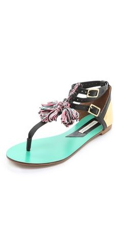 afd455a3f bohemian-chic Fanny Flat Sandals by Cynthia Vincent  sandals Best Flats