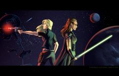 """dinosaur-unicorns: """" OTP: Blonde Han Solo and Commander Raccoon Eyes Revised from (x) since I've actually seen the show now… """" Lincoln And Octavia, Clarke And Lexa, The 100 Clexa, Star Wars Fan Art, The Hundreds, Otp, Creative Art, Fangirl, Concert"""