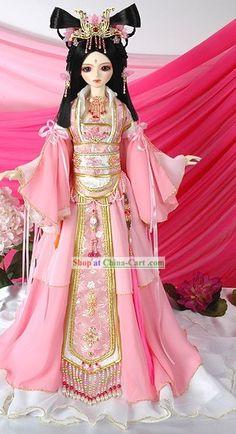 bright pink chinese hanfu