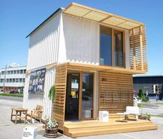 Container house plans prefab shipping container homes for sale,container house cost shipping container home,build your own container house cheap used shipping containers. Tiny Container House, Building A Container Home, Container Buildings, Container Architecture, Container Design, Cargo Container, Green Design, Mini Loft, Casas Containers