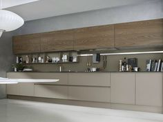 Cozinha lacada linear SYSTEM Composition 06 by Pedini Modern Kitchen Cabinets, Kitchen Dinning, Kitchen Sets, Modern Kitchen Design, Interior Design Kitchen, Kitchen And Bath, New Kitchen, Kitchen Decor, Kitchen Layouts