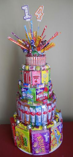 vintagie recreation, but this one tastes yummy.like candy.it's a SuRpRiSe! Birthday Candy, 14th Birthday, Diy Birthday, Birthday Parties, Birthday Ideas, Candy Bouquet Birthday, Candy Bouquet Diy, Birthday Quotes, Anniversaire Candy Land