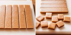 Receta de facilísimos caramelos tipo toffee, masticables, para hacer en casa. Elaboración con fotos paso a paso y consejos