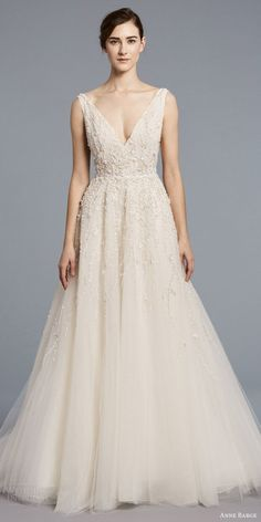anne barge spring 2018 bridal sleeveless v neck fully embellished ball gown wedding dress (francoise) mv -- Anne Barge Spring 2018 Wedding Dresses