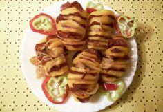 Tepsis krumpli gazdagon Potato Recipes, Ale, Waffles, Sausage, Potatoes, Favorite Recipes, Meat, Breakfast, Ethnic Recipes