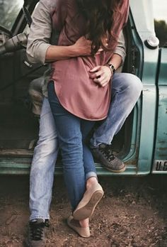 Romance is . not letting the world dictate how you spend your time, but rather spending your time getting lost from the world in your lover's embrace. Photo Couple, Love Couple, Couple Shoot, Couple Goals, Couple Things, Engagement Couple, Engagement Pictures, Country Engagement, Engagement Session