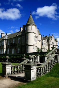 Balmoral Castle has been one of the residences for members of the British Royal Family since 1852, when the estate and its original castle were purchased privately by Prince Albert, consort to Queen Victoria.  Soon after the estate was purchased by the royal family, the existing house was found to be too small and the current Balmoral Castle was commissioned. The architect was William Smith of Aberdeen, although his designs were amended by Prince Albert. The new castle was completed in 1856.