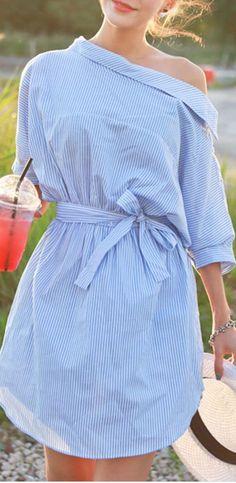 shirtdress with a twist