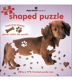 Paper House Jigsaw Shaped Puzzle Dachshund at Joann.com