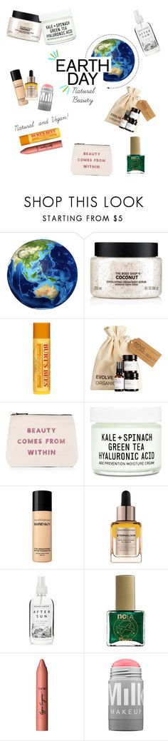 """Untitled #5"" by c0smic ❤ liked on Polyvore featuring beauty, The Body Shop, Burt's Bees, ALPHABET BAGS, Youth To The People, Bare Escentuals, Herbivore, ncLA, tarte and MILK MAKEUP"