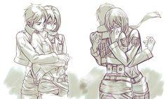 Eren x Mikasa ♡ Eremika Attack On Titan Comic, Attack On Titan Ships, Tokyo Ghoul, Zombie Prom Queen, Eren And Mikasa, Rivamika, 5 Anime, Eremika, Bleach Anime