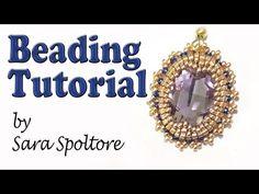 BeadsFriends: earring tutorial - DIY earring - Beading Tutorial - YouTube