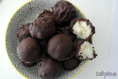Τρουφάκια καρύδας (ινδοκάρυδο)