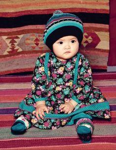 Kenzo Kids returns to ethnic inspirations for children's fashion for winter 2011 Cute Kids, Cute Babies, Baby Kids, Fashion Kids, Trendy Fashion, Beautiful Children, Beautiful Babies, Little People, Little Girls