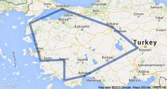 Mediterranean Turkey Map