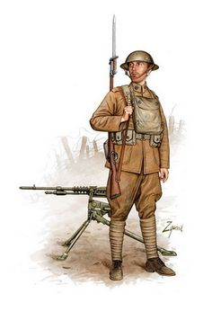 The Military Artwork of Dmitriy Zgonnik Military Insignia, Military Art, Military History, World War One, First World, Ww1 Art, Military Drawings, Army Uniform, Military Uniforms