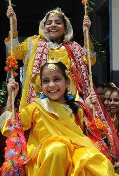 Teej festival celebrations, India