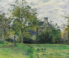 Camille Pissarro  1831 - 1903  LA MAISON DE PIETTE À MONTFOUCAULT