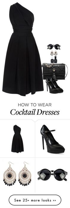 """""""Cocktail Dress"""" by miki006 on Polyvore featuring Preen, Yves Saint Laurent and Deborah Lippmann"""