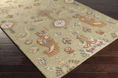 Sprout Area Rug | Ikat and Suzani Rugs Hand Hooked | Style SRT2006