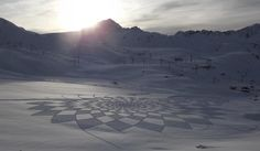 Huge, Geometric Designs Made By Walking In The Snow
